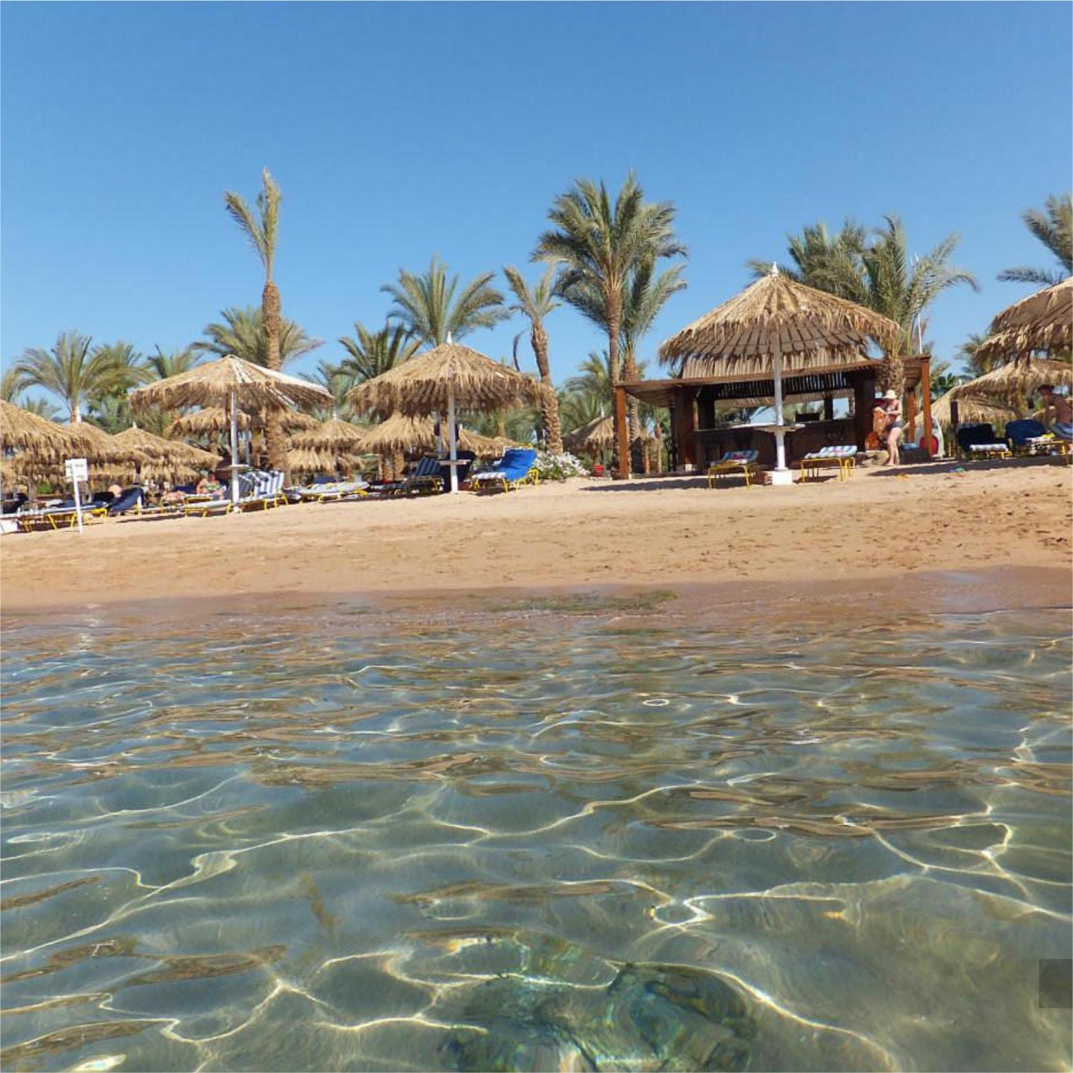пляж отеля Hilton